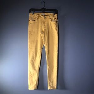 EXPRESS-Gold Jeans with tapered legs 💛💛🎃🎃